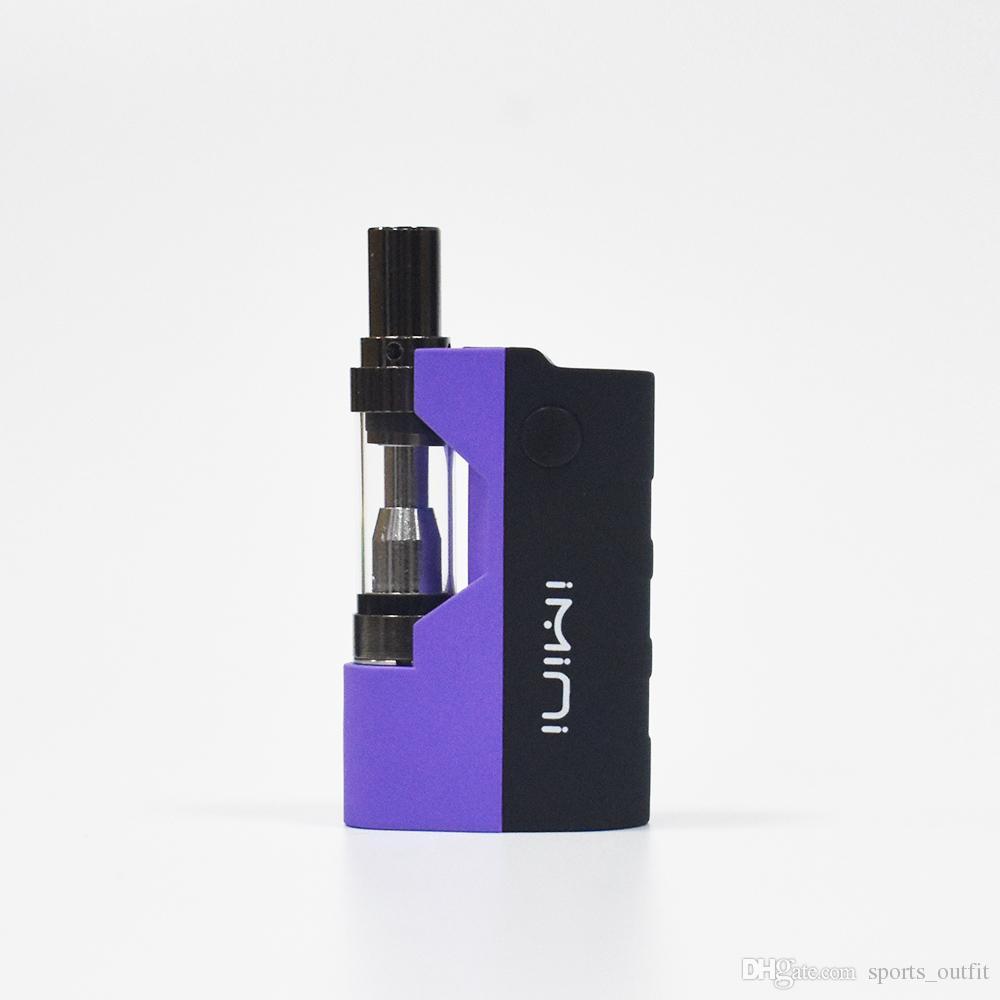 Electronic cigarettes imini 500mah Vape Battery Oil Vape Mod 510 Thread Cartridges 0.5ml Wick Coil Atomizer Box Mod Kits