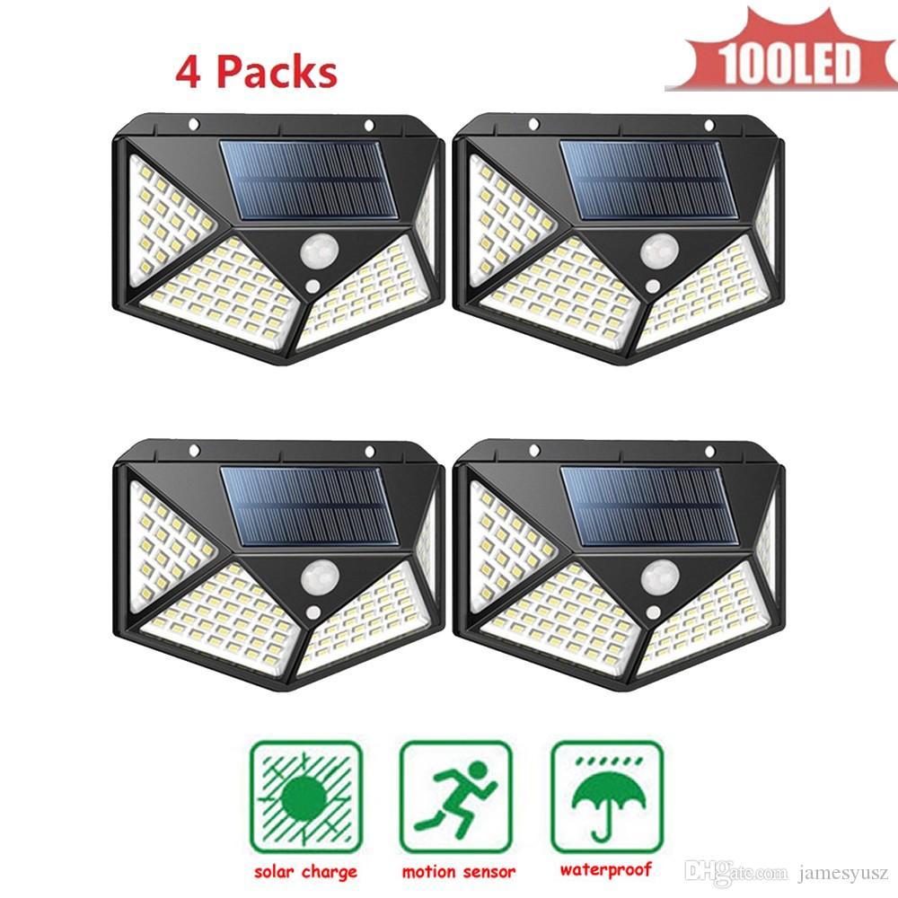 위대한 태양 광 마이크로 웨이브 레이더 센서 (100) LED 에너지 램프 방수 리튬 배터리는 야외 4 270 ° 조명 범위 무선 식 수용 양면