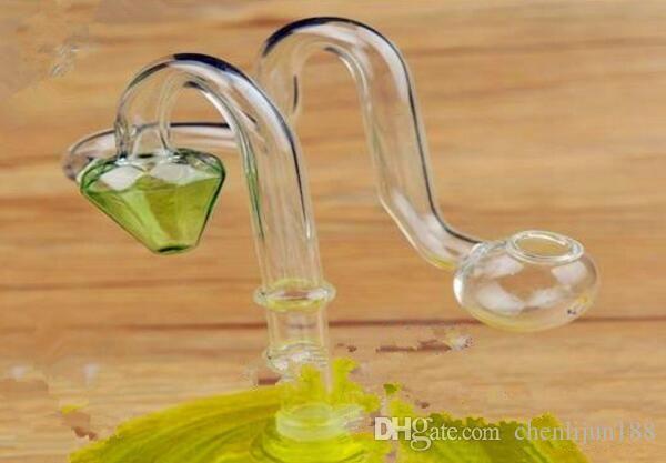 Narghilé di vetro all'ingrosso del diamante n vaso, accessori per tubi di vetro dell'acqua, trasporto libero