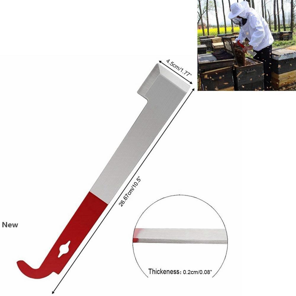 비 도구 하이브 스크레이퍼 스테인리스 J 형 양봉 스크레이퍼 붉은 꼬리 양봉 도구 곤충 휴대용 꿀 홈 칼 FFA3709 공급
