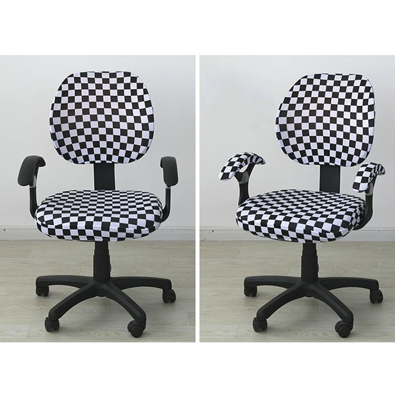 Stretch Chair Cover Floral Spandex Covers for Rotating Office Computer Chairs UK