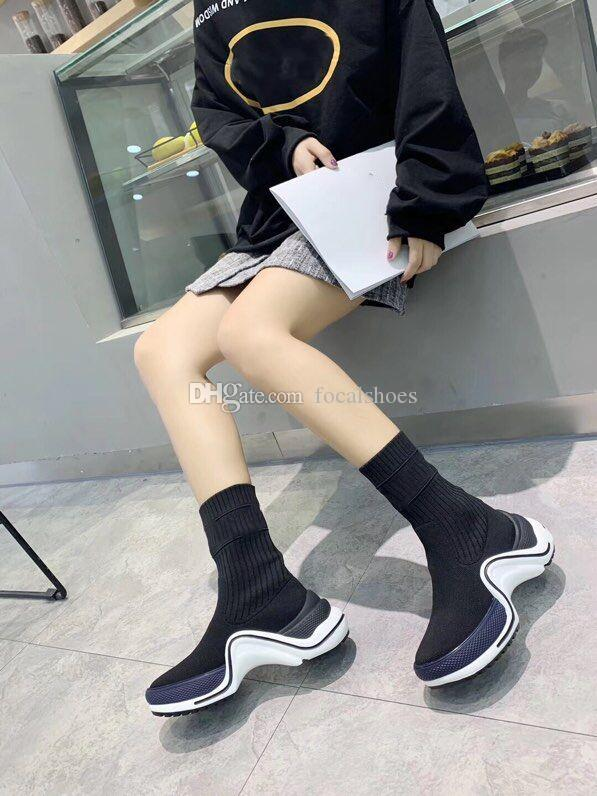 Archlight Sneakers Mulheres Sock Botas In Black Branco Knit Lady Archlight Sock sapatas do desenhador Sapatos Luxe Botim Mulheres Chuassures