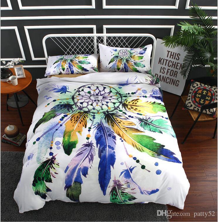 Оптовая 3D печать мода наборы постельных принадлежностей роскошные кровати новый стиль постельного белья пододеяльник и подушка хорошие компиляторы кровать наборы, бесплатная доставка