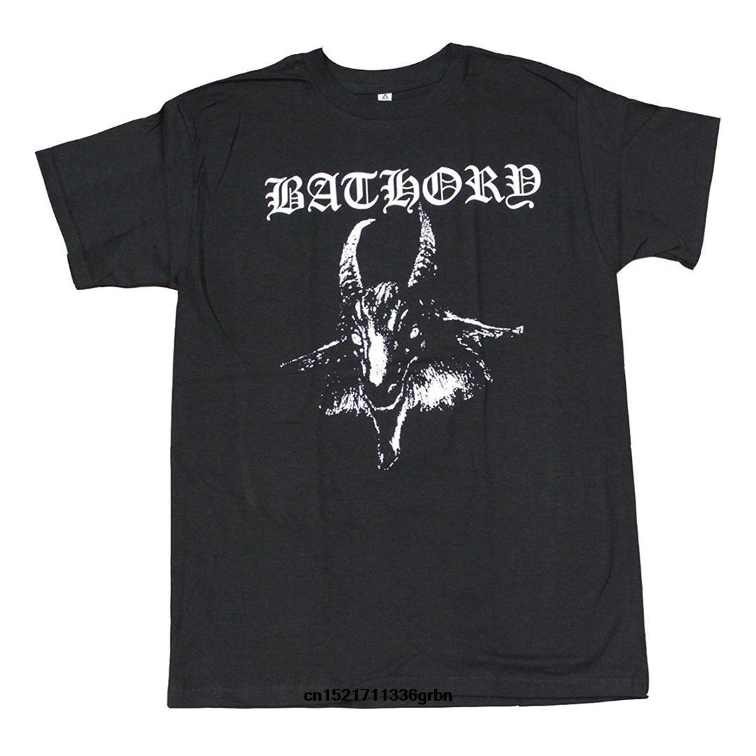 Maglietta degli uomini Capra da bagno Nero metallo Moda Estate Maglietta divertente allentata della maglietta della novità delle donne