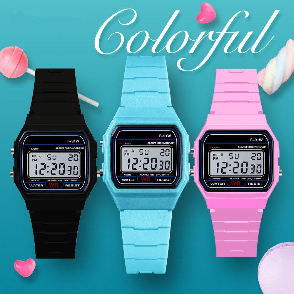 Fashion Luxury Men's Led Watch alarm clock Men women's F-91W watches Cheap F91W fashion thin LED watches