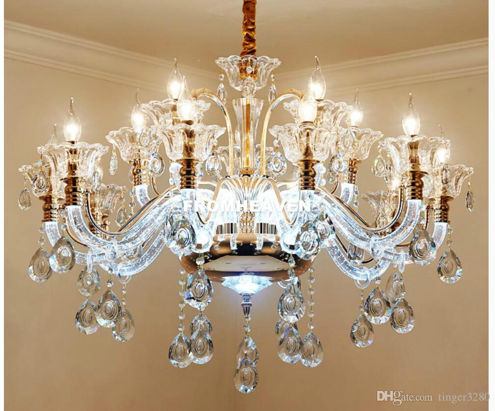 Yeni Lüks Kristal avize Salon parıltı sala de jantar kristal Modern Avizeler Işıklar Armatür Düğün Dekorasyon
