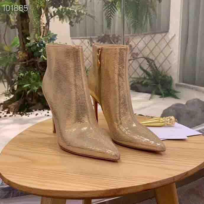 التمهيد الكاحل مصمم النساء عالية الكعب الأسود الحذاء الأحمر الأحذية المسامير أسفل الأحذية منصة الأزياء الأفعى فستان الجلد في فصل الشتاء الأحذية حفل زفاف