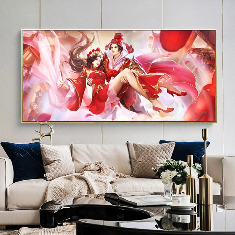Pintura Diamante 5D, Diamante Rodada Completa Bordado estilo chinês casamento, Ponto Cruz, Venda de Strass Diamante Mosaico