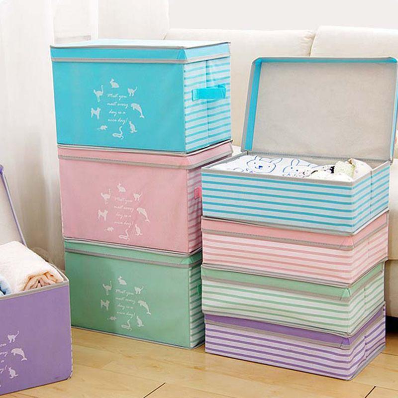 의류 장난감 보관 상자 분배기 옷 상자해지기 주최자 화장품 메이크업 컨테이너 옷장 상자 접을 수있는 조합