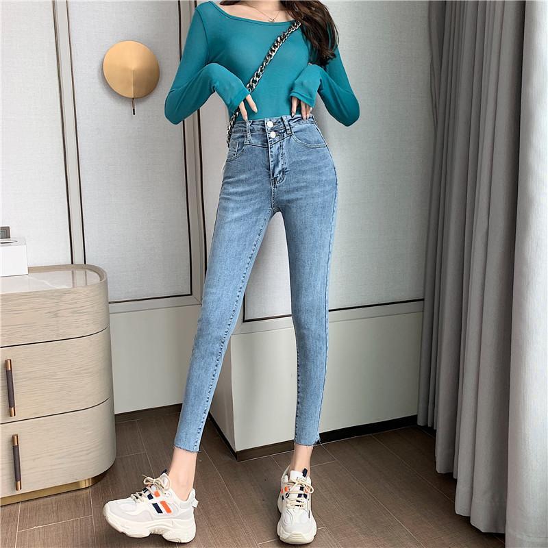 Bleu Gris Femmes'S Taille sur mesure et la hanche Princesse Jeans Bk1666