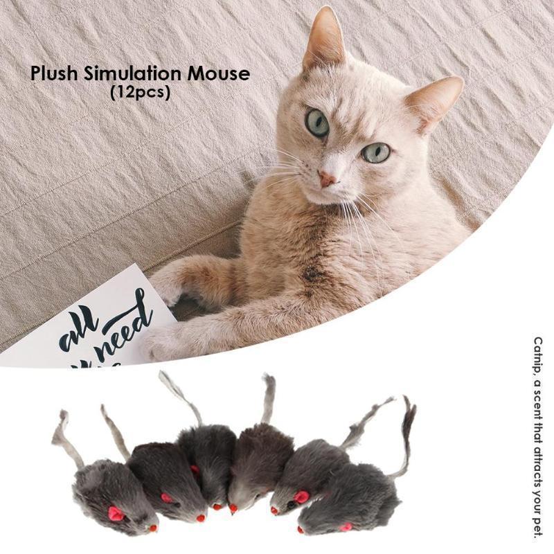 12шт мини-игрушки для кошек ложные мыши игрушки для домашних животных котенок забавные игры игрушки интерактивная тренировка плюшевые