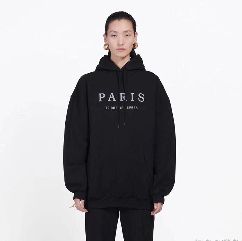 Ünlü Erkek Paris Nakış Kapüşonlular Moda Erkek Stilist Kapüşonlular Ceket Erkekler Kadın Kaliteli Casual Sweatshirt Boyut M-2XL