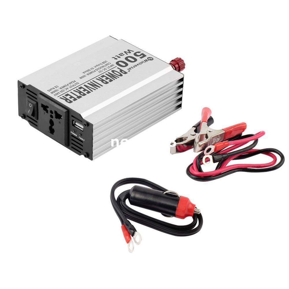 Freeshipping 1 adet XY2 Araba Power Inverter 500 Watt Dönüştürücü Yumuşak Başlangıç USB Taşınabilir Araç Şarj Sıcak Dünya Çapında
