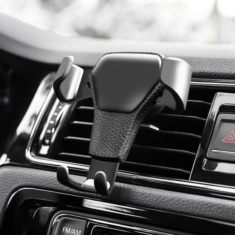 السيارات تنفيس الهواء جبل مهد حامل حامل لفون الهاتف الخليوي الجوال GPS المخرج الهواء حامل الهاتف المحمول سيارة الجلد نسيج الجاذبية حامل الهاتف