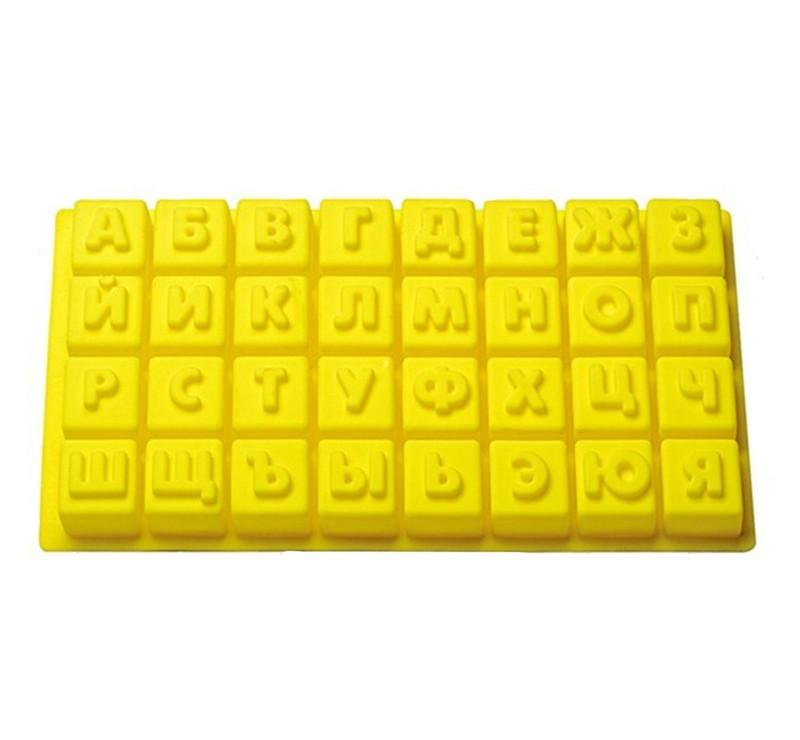 Silicone Chocolate Mold as Jelly Candy Pudding Mould with Alphabet Letters of Russian08
