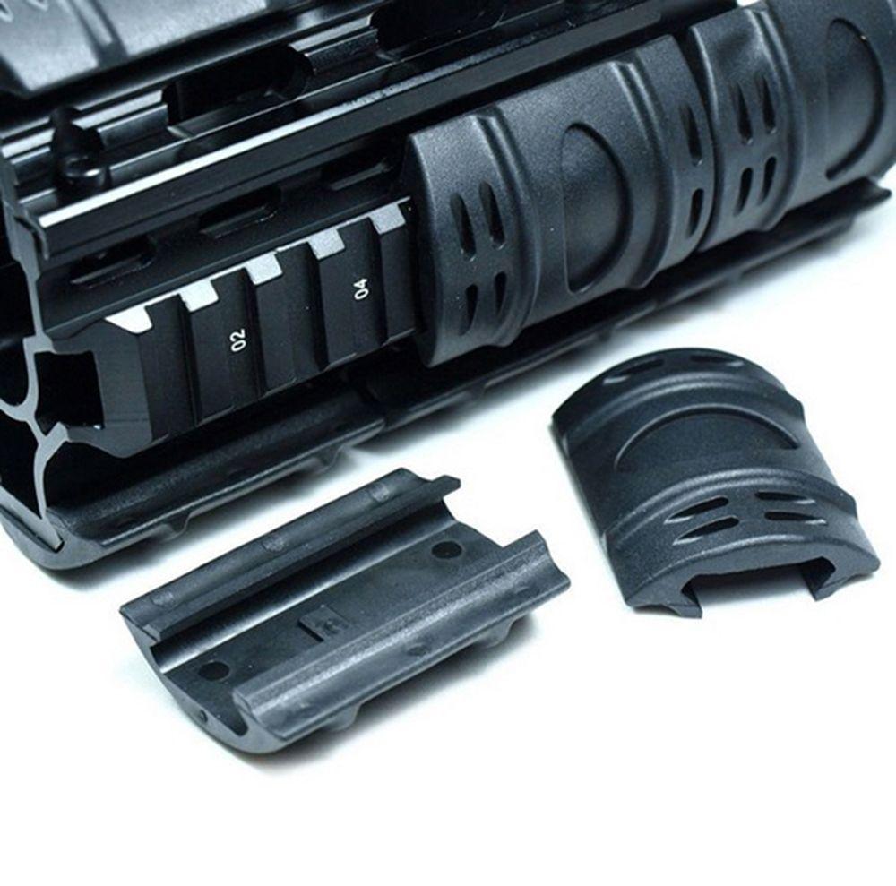 Тактические пикатинные ручной ограждения Quad Rail чехлы резиновые ткани утяжелители 60 шт. / Лот резиновый материал черный.