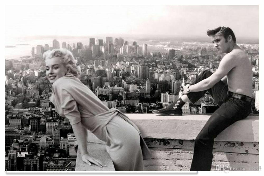 Compre Marilyn Monroe Elvis Presley Vintage Photo Home Decor ...
