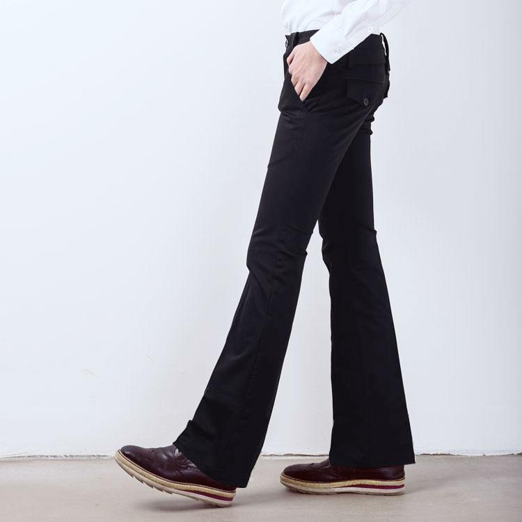 27-44 2018 Men's clothing GD Hair Stylist fashion street Non mainstream punk Broad foot flare trousers plus size costumes