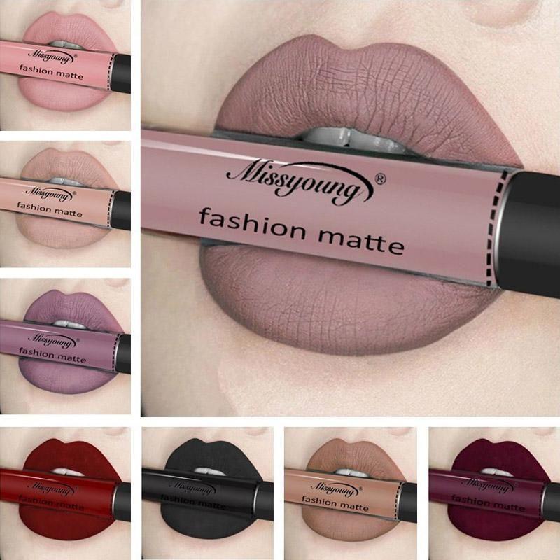 Velvet di rossetto opaco a lunga durata idratante Lip Gloss Liquid Liquid Liquid Rossetti Non-Stick Trucco tazza