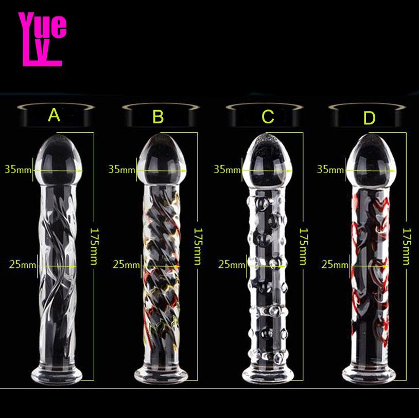 YUELV Pyrex Glass Dildo Artificial Penis Dick Crystal Anal Butt Plug Female Masturbation G-spot Massage Adult Sex Toys For Women Y200421
