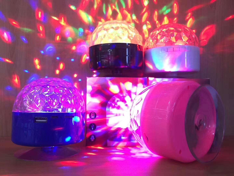 AQ9 portable speakers colorful stage night light Bluetooth speakers mini plug card MP3 mobile phone desktop stereo speakers flash 04