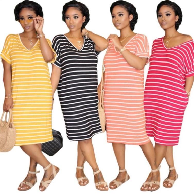 womens une pièce jupe robe jupe d'été à manches courtes-dessus du genou de haute qualité robe élégante sexy robe maigre très chaud 3527