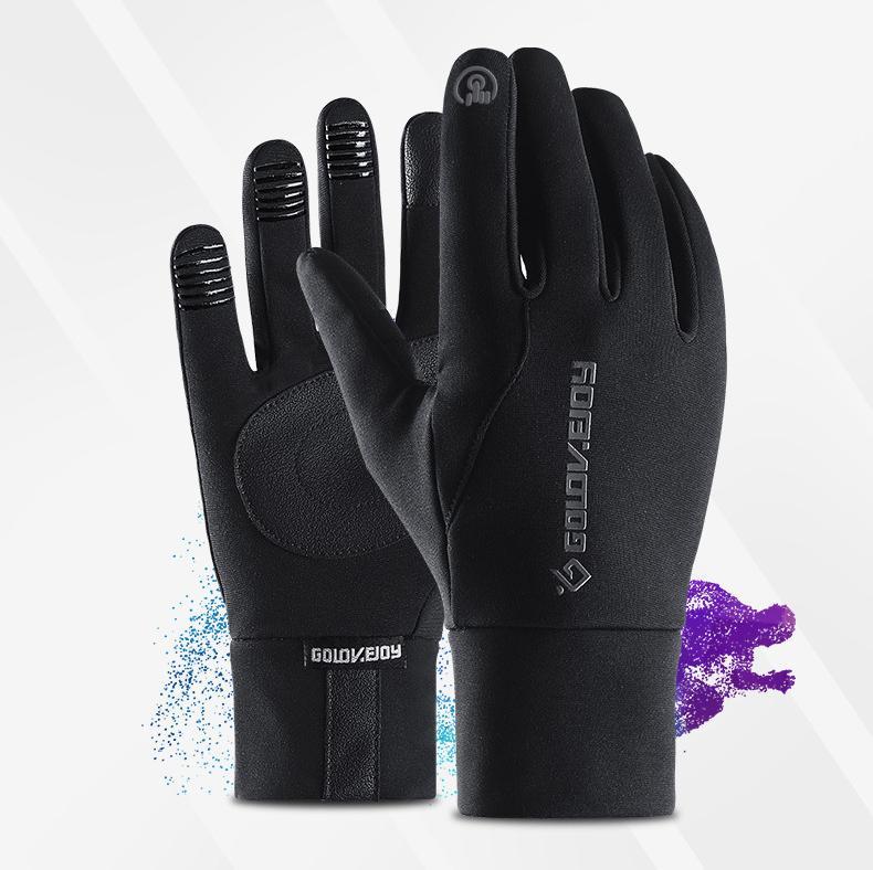 201910 Gants coupe-vent de course Warm Gants écran tactile Anti-Slip en plein air Cyclisme vélo sport mitaines de femme, homme, noir M685F