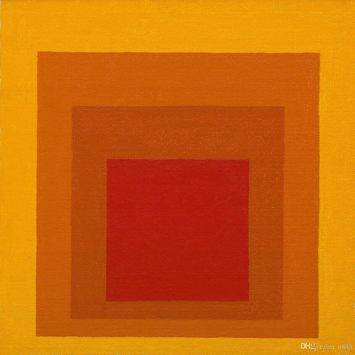 Josef Albers Study For Homage To The Square Closing Home Decor Handpainted &HD Print Oil Painting On Canvas Wall Art Canvas Pictures 191111
