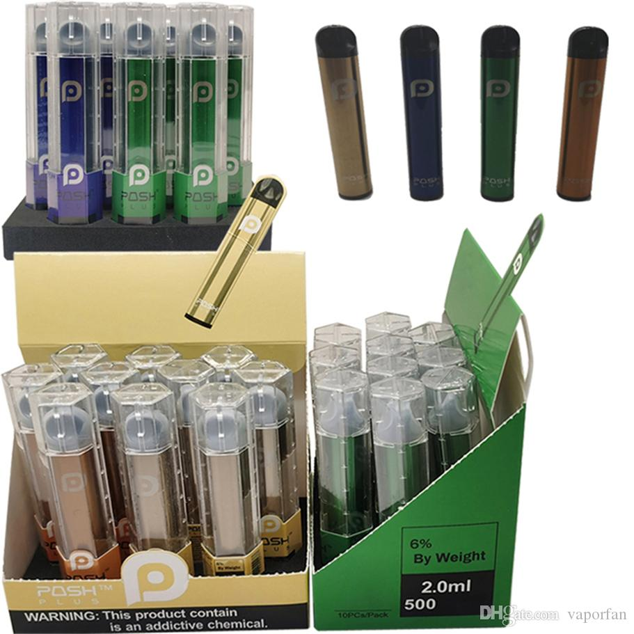 Posh Plus Vape pluma desechable Pod difusor cigarrillos e Vape Kits 2ML Vaciar Cartucho de empaquetado 450mAh E Cig batería Vape vainas