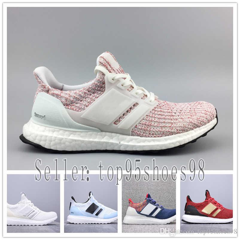 b61214f32 2019 Ultra Boost Mens Running Shoes Ultraboost 4.0 Orca Candy Cane Ash  Peach Triple White Black Burgundy Show Your Stripes Sports Sneakers 36 45  From ...