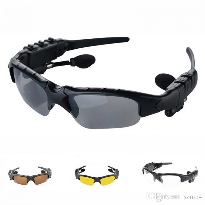 Sunglasses Bluetooth Headset Outdoor Glasses Earbuds Music with Mic Stereo Wireless Headphones Outdoor Smart Glasses Earphones