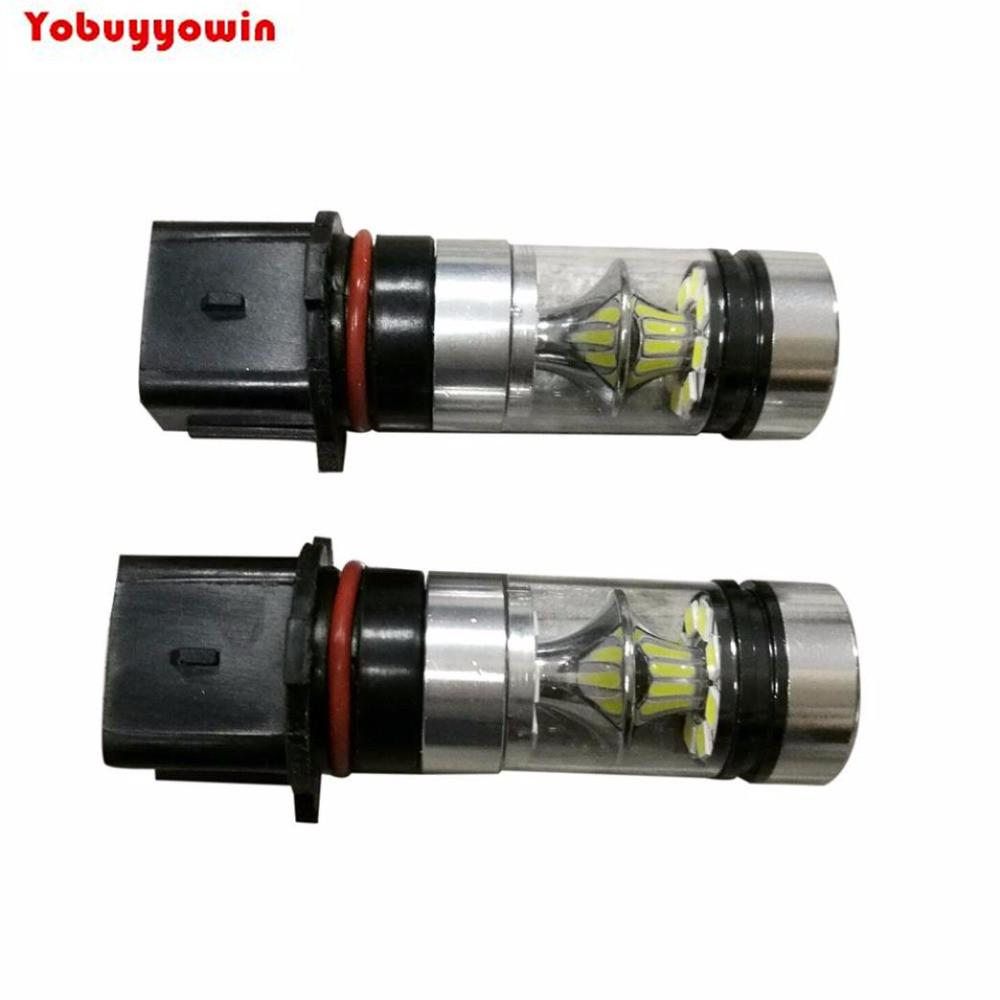 2x 100W White P13W PSX26W High Power LED 12V-24V Fog Light Driving DRL Daytime Running Low Beam Accent for Camaro