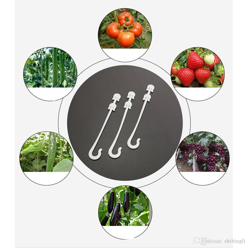 Clips de la planta de plástico Virgo fruta del tomate de cereza gancho del oído de la flor del jardín de verduras de apoyo suministros de plantas colgar accesorios