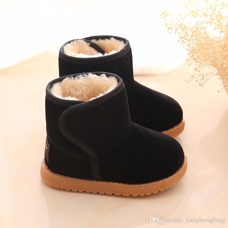 2019 Nuova peluche caldo del bambino del bambino stivali di moda per bambini neve stivali scarpe per le scarpe delle ragazze dei ragazzi di inverno 1-3 anni Bambini Stivaletti