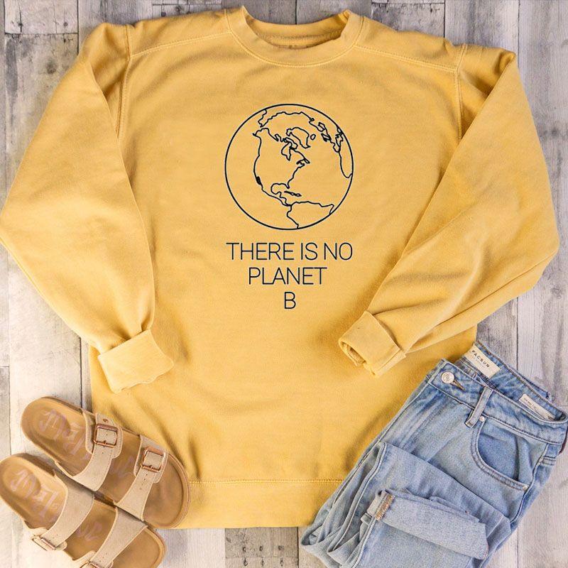 Там нет Планеты B Толстовки Женщины Сохранить Земную Графические Толстовки Одежда женской Причинная Толстовки Пуловеры Японских Перемычки падение