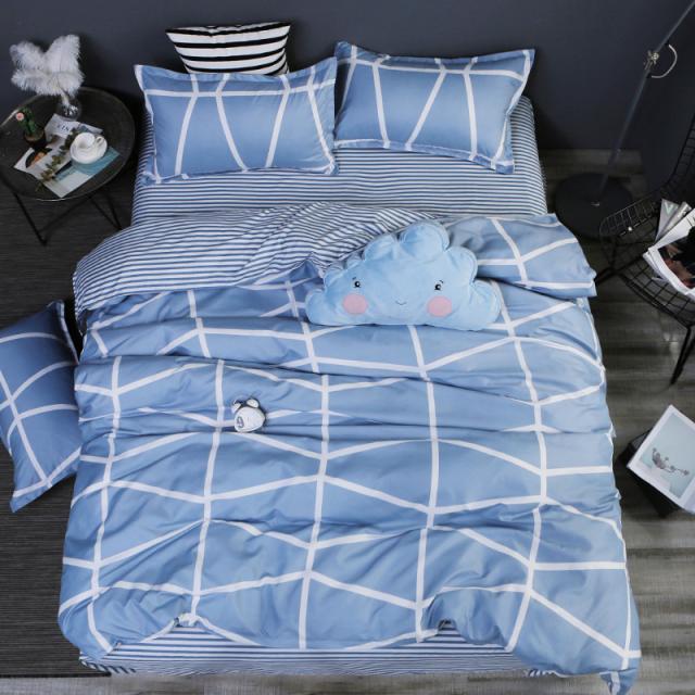 Designerbett Decken stellt 4pcs / set Psychedelische Wald Cartoon Bäume Druck Bettwäsche Set Bett Linings-Bett-Blatt Kissen- Bezug-Set