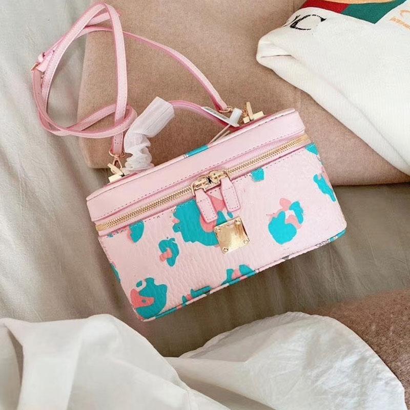 Damas bolsos de mano de maquillaje cosmético de alta calidad Bolsa de hombro Bolsos para mujer del cuerpo cruzado Cruzado y Bolsas monograma con la caja