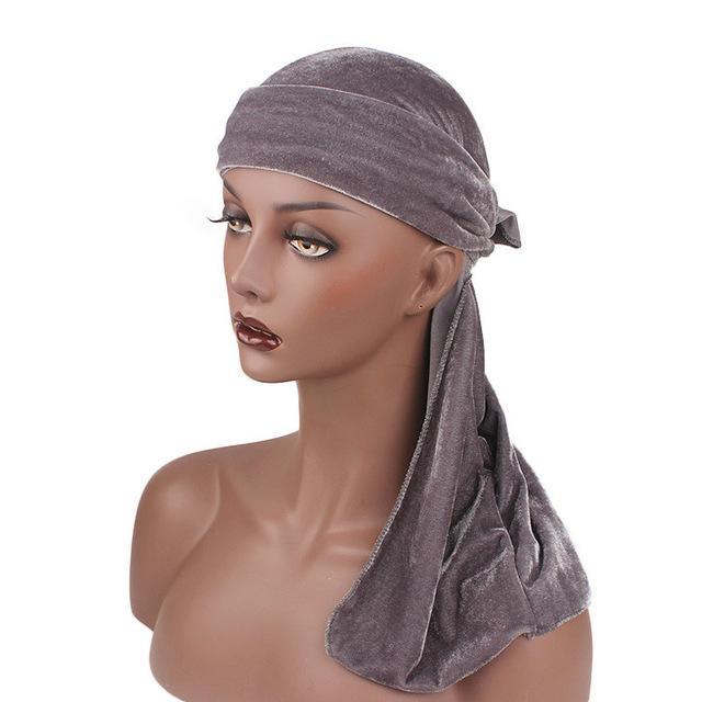 New Velour Long Tail Schal Mütze Männer Bandana Turbane Perücken Herren Kopfbedeckung Piratenhut Frauen Hijabs Haarschmuck
