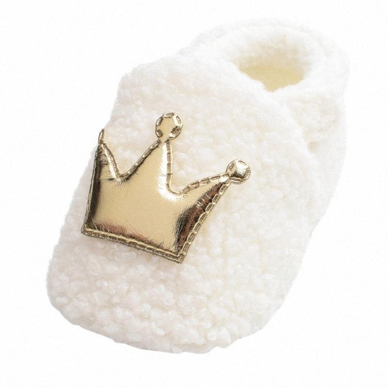 Winter Crown Furry Baby Cotton Schuhe Walking-Schuhe white cute Baby-Kleidung Baumwolle chaussure garcon fsM0 #