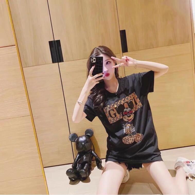 Nuova estate di marca del progettista di usura T-shirt e le stampe di moda donna maniche corte in cotone di alta qualità casual t-shirt
