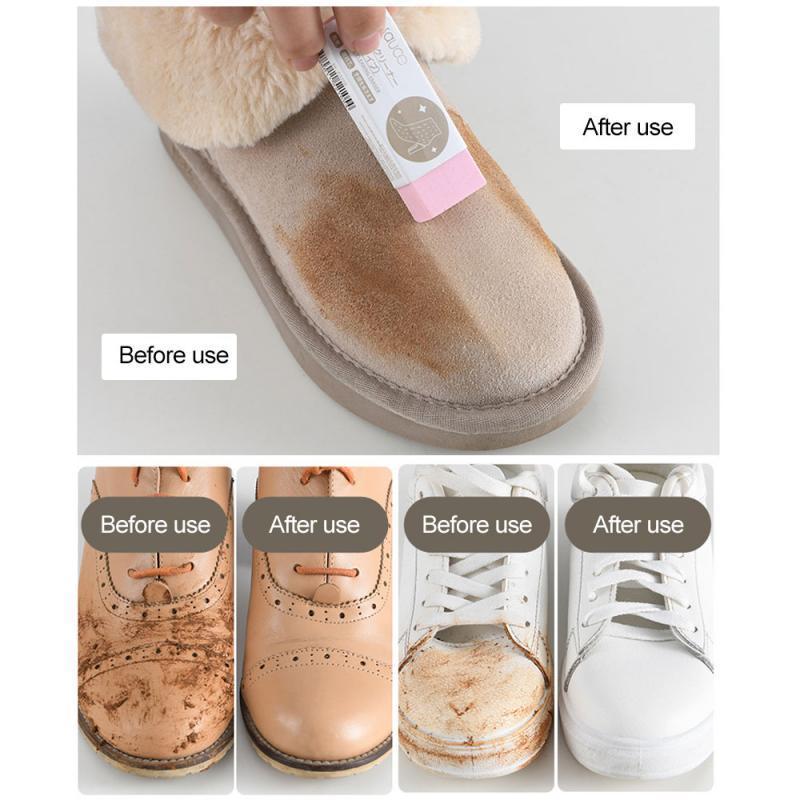 Chaussures de nettoyage Gomme Nettoyage physique Décontaminer Cleaner Suede en cuir mat en peau de mouton Chaussures de sport propres fournitures de soins