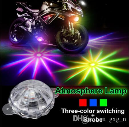 Atmosphere Lamp Motorcycle Lighting Motorcycle Flasher Single LED Light Under Motorbike Scooter Strobe Light LED Tail Brake Fog