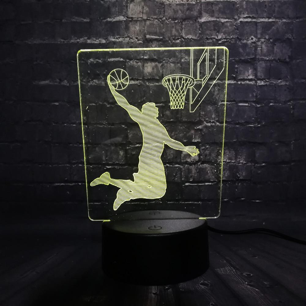 Mesa Hombre Dunk Escritorio Baloncesto La Led De Luz Compre Noche 6bg7fy