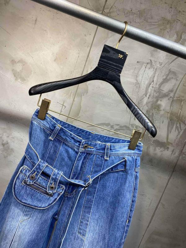 mujeres de la alta calidad al por mayor-2020 de primavera de cintura alta pantalones de mezclilla informal Trouse los pantalones vaqueros de las señoras ddxgz2