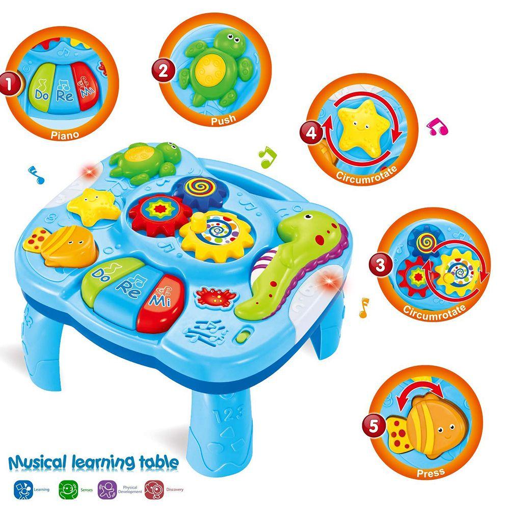 Aprendizaje divertido infantes de música ligera actividad segura del animal de mar Tabla Los niños pequeños Temprano Juego Educación colorido juego juguete del regalo del bebé