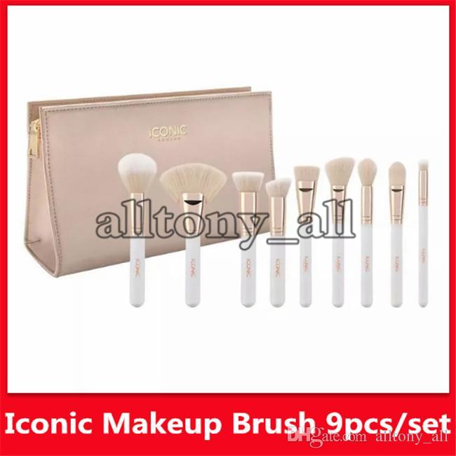 2019 ICONIQUE LONDON haute définition Maquillage du visage brosse de Fondation Pinceau Pinceau avec détail libre Drop Shipping