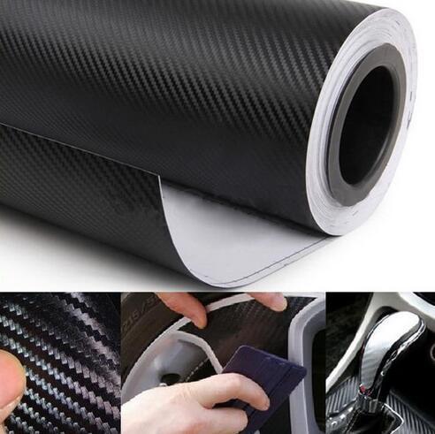 자동차 스타일링 DIY 3D 탄소 섬유 비닐 필름 자동차 스티커 롤 랩 시트 칼 블랙 새로운