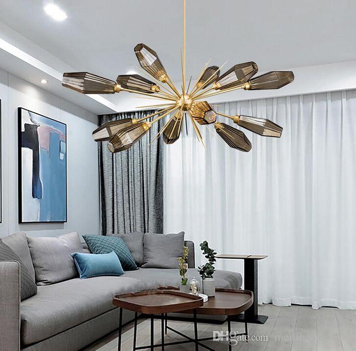 İskandinav Cam Globe Led Avize E14 kolye Lambalar Avize Aydınlatma Salon Yatak odası Luster Avize İç Aydınlatma Lamparas MYY