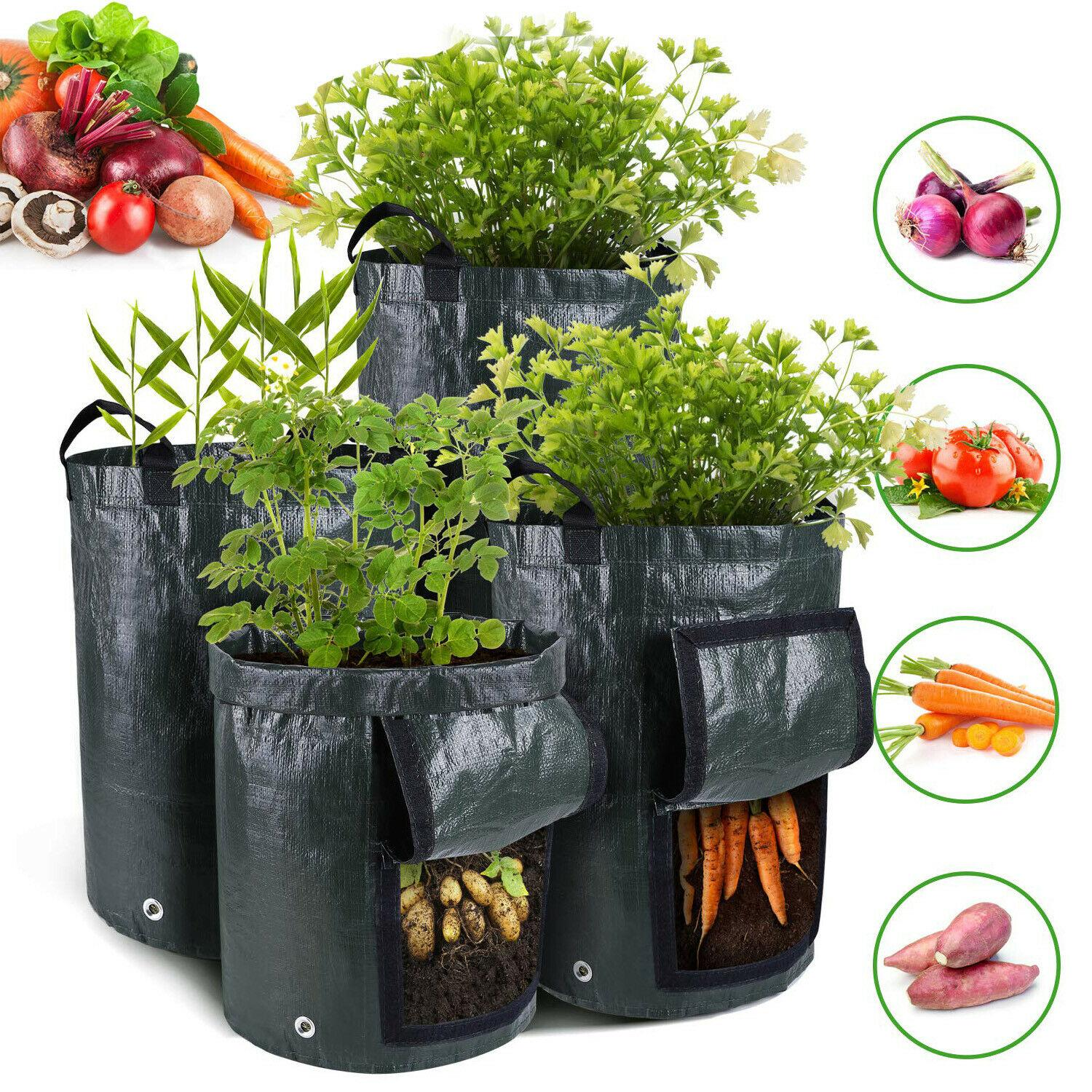 Hot Patio Lawn Outdoor Vertical Garden Hanging Open Style Vegetable Planting Grow Bag Potato Strawberry Planter Bags For Growing Potatoes