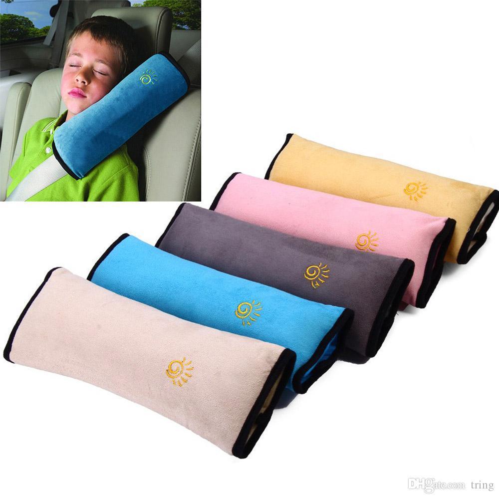 새로운 유니버설 아기 자동차 자동차 안전 좌석 벨트 하네스 어깨 패드 커버 어린이 보호 자동차 커버 쿠션 지원 베개